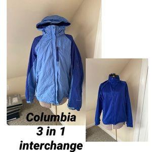 🆕Columbia Large 3in1 Interchange Jacket
